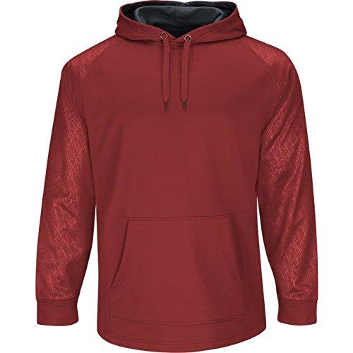Majestic Men's Home Plate Hooded Tech Fleece Pullover (Majestic Athletic Hooded Fleece)