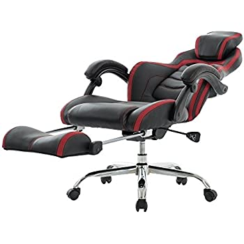 VIVA OFFICE Fashionable High Back Bonded Leather Racing Style Recliner  Gaming Chair with FootrestAmazon com  Merax Technical Leather Big Tall Executive Recliner  . Office Chair Recline. Home Design Ideas
