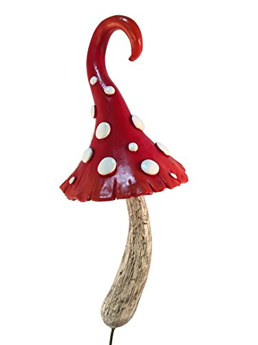 GlitZGlam Enchanted Miniature Red Mushroom for a Miniature Fairy Garden. A Gnome- Fairy Garden Accessory