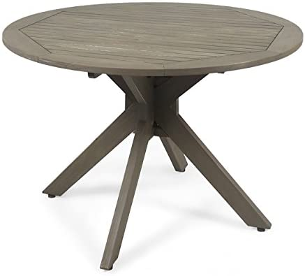 Christopher Knight Home 305060 Stanford Outdoor Round Acacia Wood Dining Table