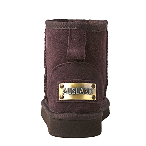 Snow DA5854 Boots Boots Chocolate Women's Ankle Leather Shenduo Classic w0q7XwE