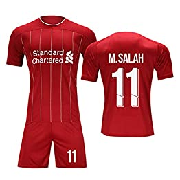 YANZZ Mohamed Salah # 11 Jersey Homme Football - Liverpool - Short SleeveSport Maillots T-Shirt Red-XS