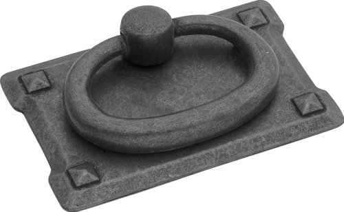 (Hickory Hardware PA0711-BMA Old Mission Ring Cabinet Pull, 1.125-Inch, Black Mist Antique)