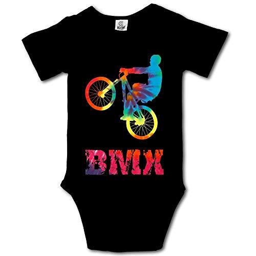 MMJQ6 BMX - Overol de Manga Corta bebés niñas, diseño clásico, Negro, 24 Meses