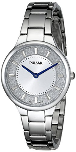 Pulsar Women's PM2129 Analog Display Japanese Quartz Silver Watch