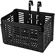 KASIQI Folding Rear Bike Basket Detchable Front Bike Basket Rust Proof Adjustable Handlebar Carrier Bag Rear B