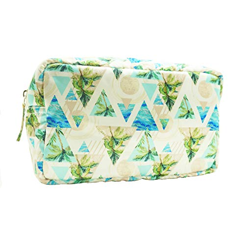 14fbf71f99fc Makeup Bag,BCTEX Tropical Parttenl Cosmetic Pouch Printed Toiletry Bag  Washable Cosmetic Bag Pouch Big