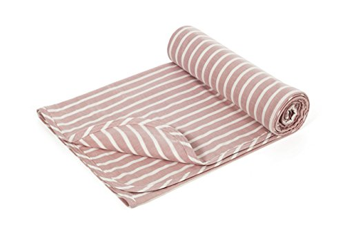 Henry and Bros. Large Double Layer Toddler Blanket, Girl Nap Blanket/Boy Nap Blanket, Light Blanket For Kids, Kids Quilt Patterns Made Of 100% Cotton (Blush Pink and Cream Stripe) (Blush) (Stripe Pink Luxe)