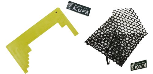 KUFA Sports Plastic Mesh Crab Bait Bag and Crab Measurer Kit