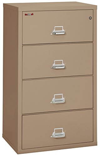 FireKing Fireproof Lateral File Cabinet (4 Drawers, Impact Resistant, Water Resistant), 31