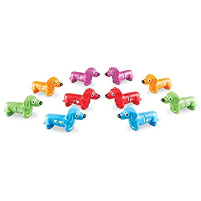 Learning Resources Snap-N-Learn Rhyming Pups Toy, 20 Pieces, Ages 3+: Toys & Games