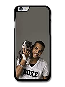 """AMAF ? Accessories Chris Brown Holding Puppy Portrait case for iPhone 6 Plus (5.5"""")"""