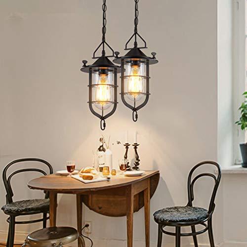 FidgetFidget Retro Loft Chandelier Ceiling Light Fixtures Bar Restaurant Pendant Lamp Lantern by FidgetFidget (Image #2)