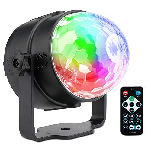 SUNY LED Party Stage Lights, 7 Modes RGB Magic Disco Ball Strobe Lights DJ Lighting Rotating Party Lights Disco Ball Indoor Auto Sound Activated Projector Club Dancing Show House Holiday - Globe Dancing