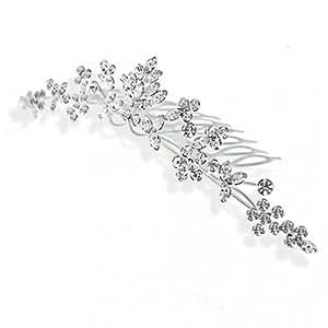 Bling Jewelry Peineta Tiara Princesa Wildflower con Cristal Boda Novia