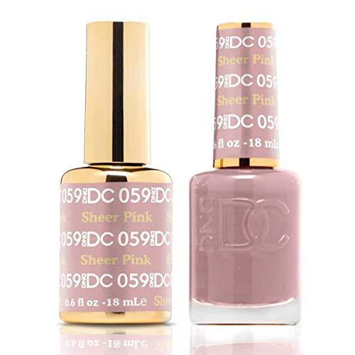 (DND DC Duo Gel + Polish - 059 Sheer Pink)