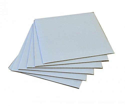 6'' Square Coated Cakeboard, 25 ct. by Cake Supplies On Sale, LLC