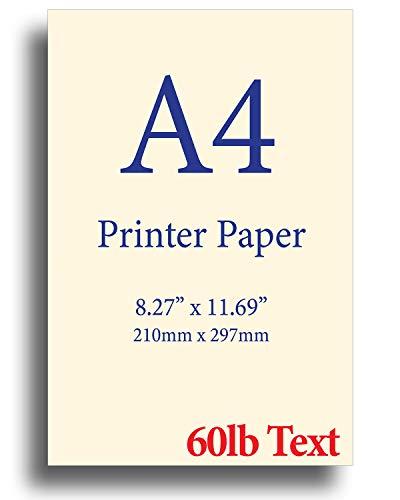 Natural Cream A4 Printer Paper - 24lb Bond / 60lb Text (90 gsm) - 8.3
