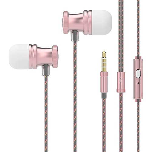 in Ear Earbuds, UiiSii E7 Earphones Microphone Inline Controls, Wired Headphones Soft Design, Compatible...