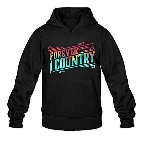 Galaxy Forever Country Classic Men's Hooded Hoodies Black XXL -