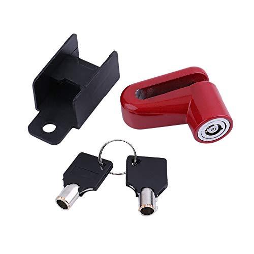 AdaAda Motorcycle Bike Bicycle Security Safe Disk Disc Wheel Lock Brake Rotor Lock Red