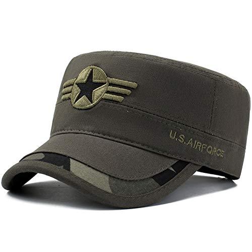 YPORE Sombrero De Copa Plano para Hombres Casuales Militares ...