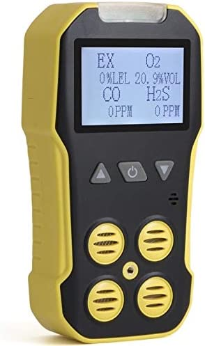 Basic MULTIGAS Detector Meter by Forensics O2, CO, H2S, LEL USB Recharge Sound, Light Vibration Alarms USA NIST Calibrated