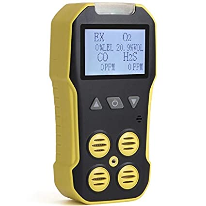 Basic MULTIGAS Detector & Meter by Forensics | O2, CO, H2S, LEL | USB Recharge | Sound, Light & Vibration Alarms | Large Display & Backlight | - - Amazon. ...