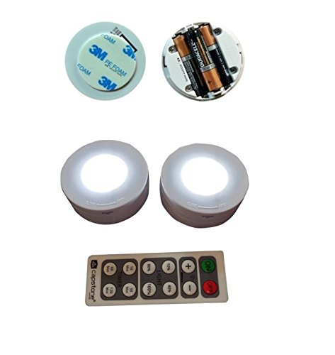 Ledsalvia 6 x led wireless puck lights with remote control mozeypictures Gallery