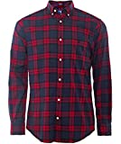 Gant Men's Regular Fit Blackwatch Tartan Shirt L Wine