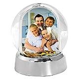 Mini Photo Snow Globe (Silver Base)