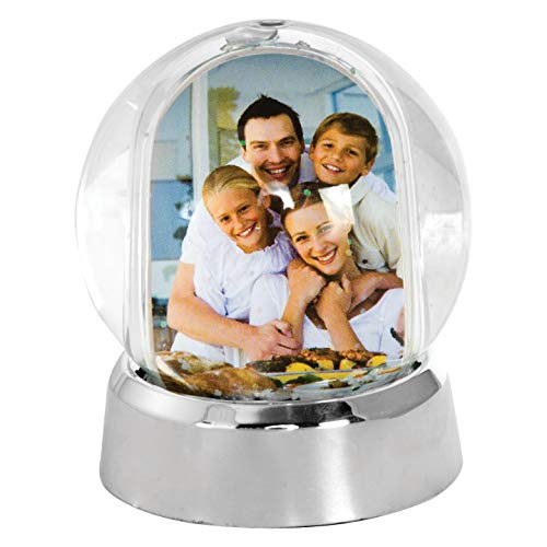 Mini Photo Snow Globe (Silver Base)