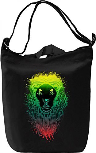 Colourful Lion Borsa Giornaliera Canvas Canvas Day Bag| 100% Premium Cotton Canvas| DTG Printing|