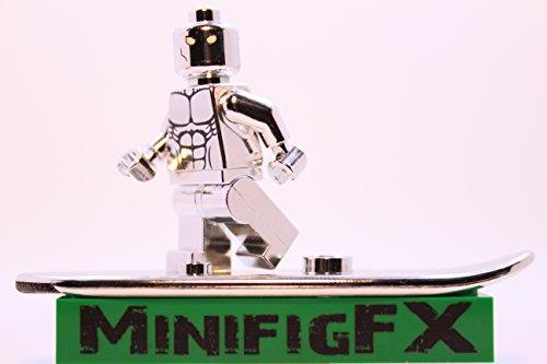 Lego Custom Printed Silver Surfer Chrome Plated Minifig Marvel Super Hero Fantastic Four
