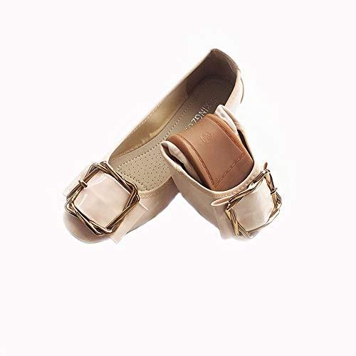FLYRCX La Primavera y el otoño Forman los Zapatos de Maternidad Antideslizantes Superficiales Suaves Antideslizantes de los Zapatos Planos deBalletPlanos, 36 EU 38 EU