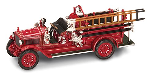 1923 Maxim C1 Fire Engine H.F.D., Red - Yatming 43002 - 1/43 Scale Diecast Model Toy (43 Red Diecast Model)