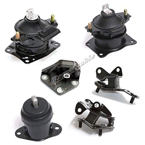 Engine Motor New Acura Mount (Remarkable Power G062 Transmission Engine Motor Mount Kit 6PCS Fit For 2003-07 Honda Accord 2.4L NEW)