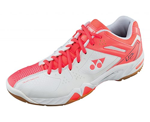 Badminton 5 UK8 Shoes Ladies YONEX SHB 02LX White Coral q6Rctwg