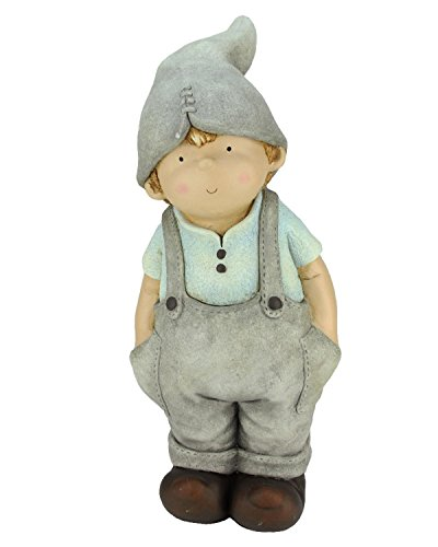 Northlight 21'' Young Boy Gnome with Hands in Pockets Spring Outdoor Patio Garden Statue by Northlight