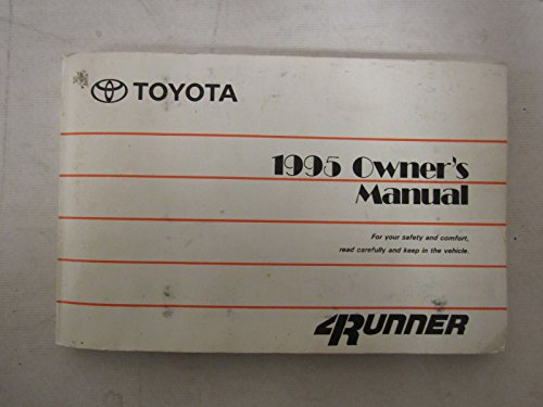 1995 Toyota 4runner 4 Runner Owners Manual