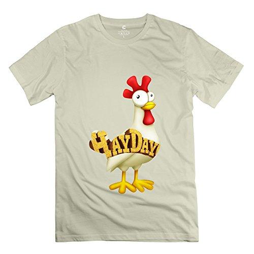 HX-Kingdom Men's Best Tees - Hay Day Chicken Game Natural Size XL