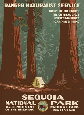 vintage national parks posters sequoia