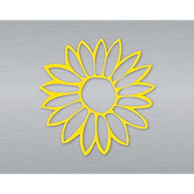 Nashville Decals Flower Laptop Tablet Notebook Car Vinyl Decal Sticker - Yellow: Automotive