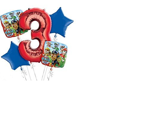 PAW Patrol 3rd Birthday Balloon Bouquet 5pc by Amscan