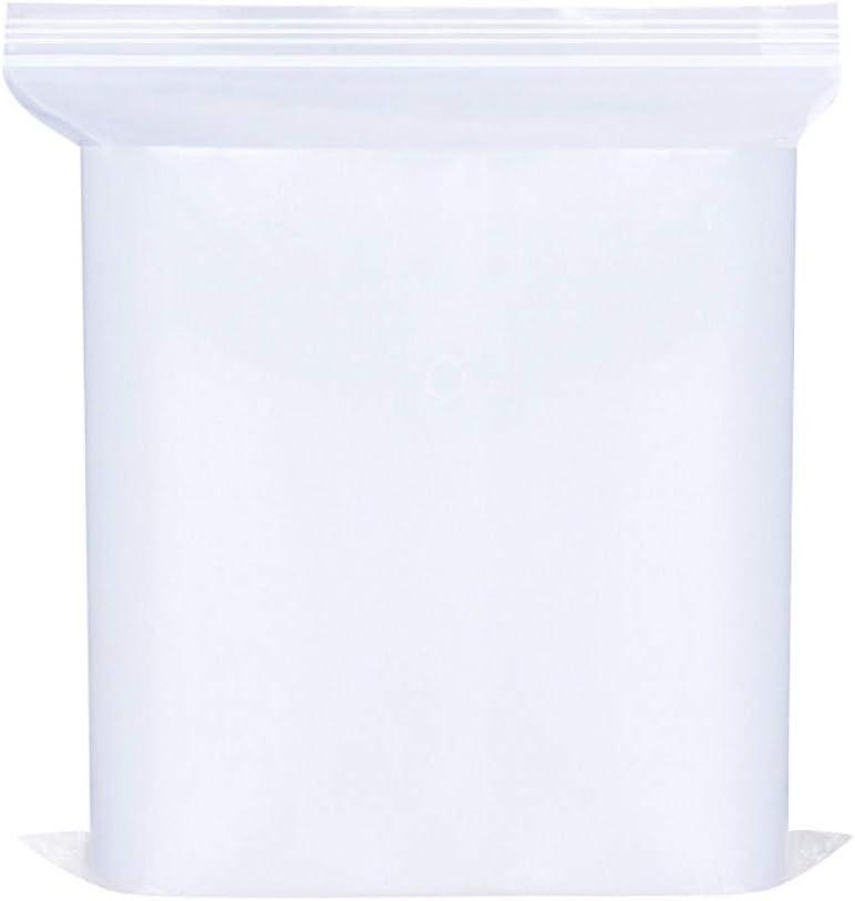 SummerXYH Bolsa Ziplock 13 * 19 Bolsa de Medicina de Piedras Preciosas Transparente Extra Gruesa Bolsa de Embalaje Bolsa con Cremallera 100