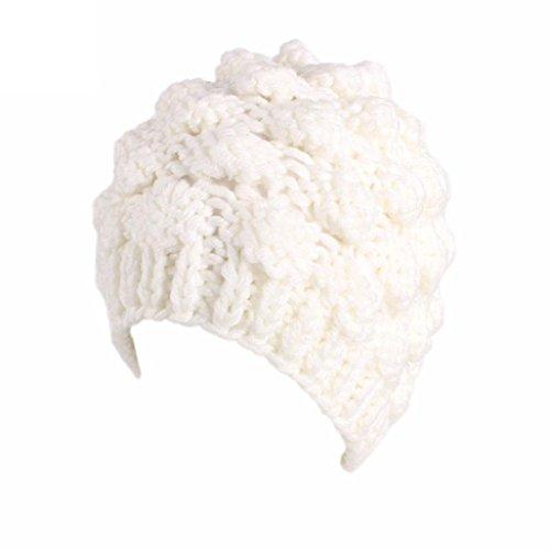 Turban Retro Fitted Head Cover Wrap Hat Cap Hair Loss (white) - 2