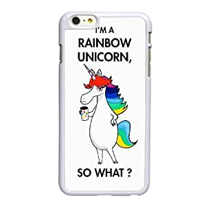 Unicornio del arco iris Puke B9V84E9VT funda iPhone 6 6S 4,7 pufunda LGadas caso funda C38CDV blanco