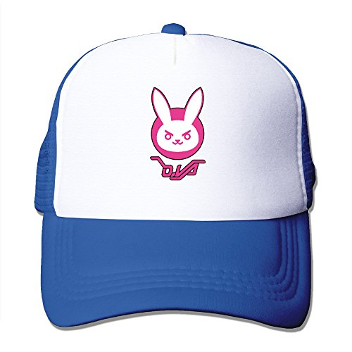 [Overwatch D.VA Logo Snapback Trucker Mesh Adult One Size Fits Most Hats Caps RoyalBlue] (Crazy Christmas Hats)