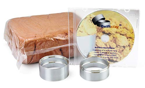 Delft Clay Casting Sand Kit Gold Silver Pewter Aluminum -Set Includes Ring & DVD
