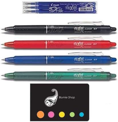 set 4 penne cancellabili FRIXION COLORI A SCELTA TRA BLU NERO ROSSO E VERDE